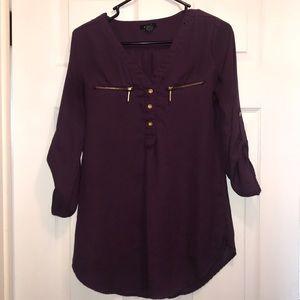 Purple chiffon shirt